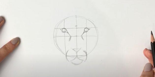 Как нарисовать льва: Детализируйте глаза