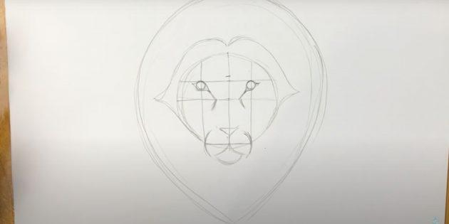 Как нарисовать льва: Сделайте гриву