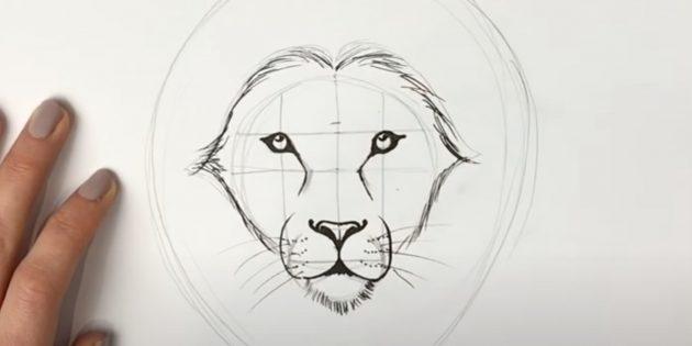 Как нарисовать льва: Нарисуйте шерсть