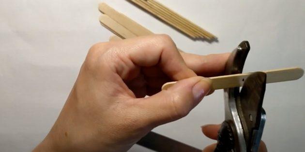 Поделки из дерева: отрежьте кончик
