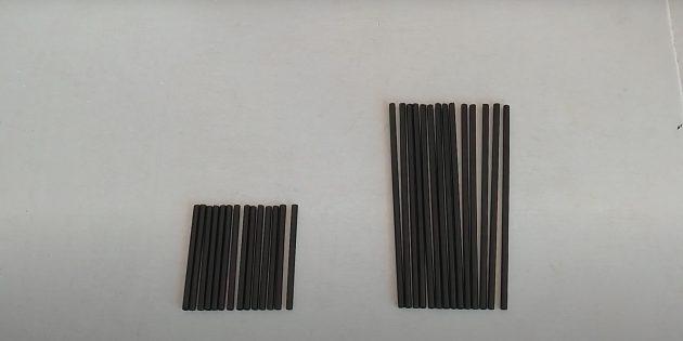 Поделки из фольги: сделайте длинные и короткие палочки