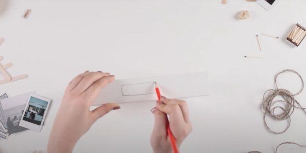 Как сделать копилку своими руками: наметьте отверстие для монет