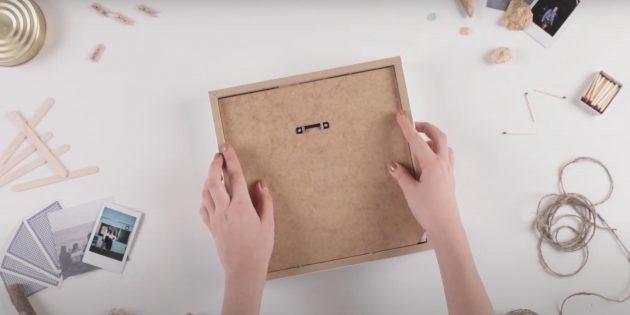 Копилка своими руками: закройте рамку крышкой