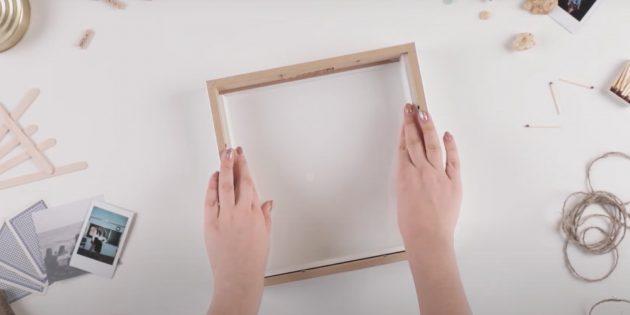 Копилка своими руками: снимите с обода верхнюю часть и вставьте его в рамку