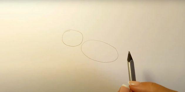 Как нарисовать ребёнка: Наметьте голову и тело