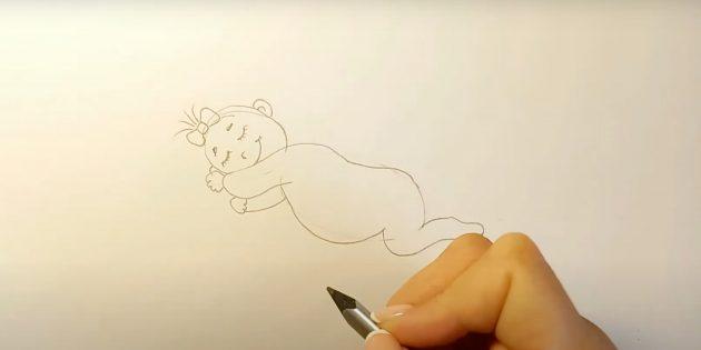 Как нарисовать ребёнка: детализируйте лицо и голову