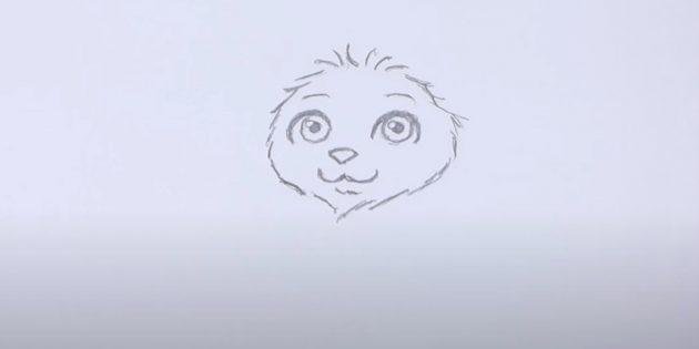 Как нарисовать льва: Нарисуйте гриву
