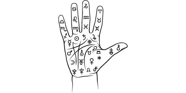 Символы для «чтения» ладони в хиромантии