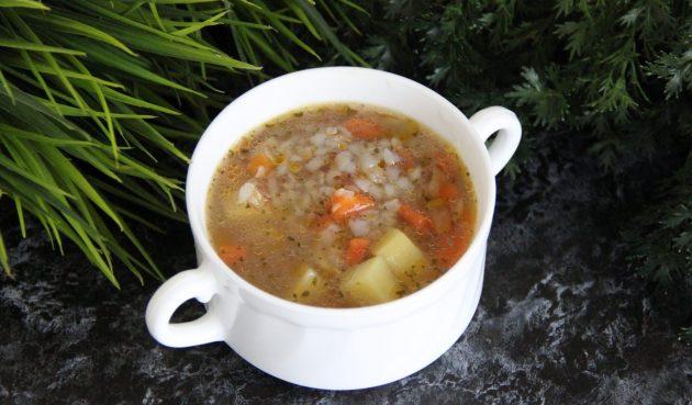 Суп из тушёнки с картошкой и гречкой