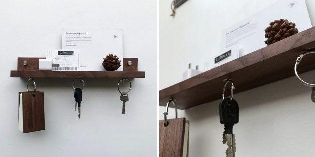 Магнитная ключница с полочкой