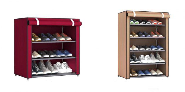 Стеллаж для обуви со шторкой