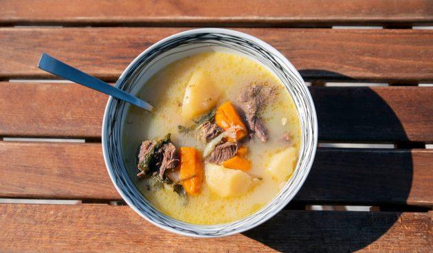 Суп с говядиной и картошкой