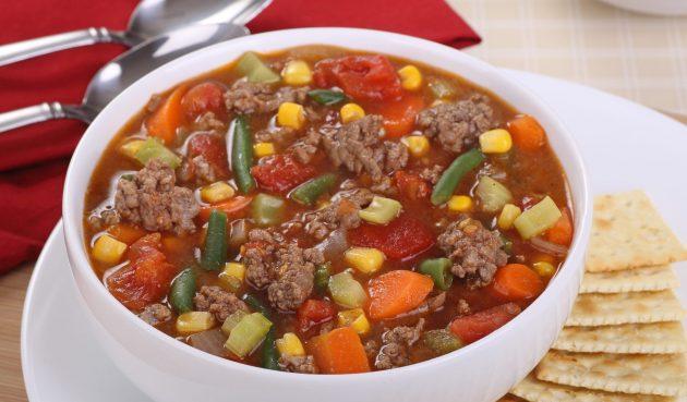 Суп с фаршем и овощами