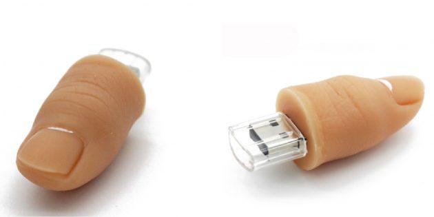 Необычные флешки: флешка-палец