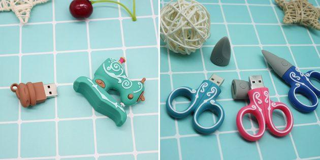 Необычные флешки: флешка — швейная машинка