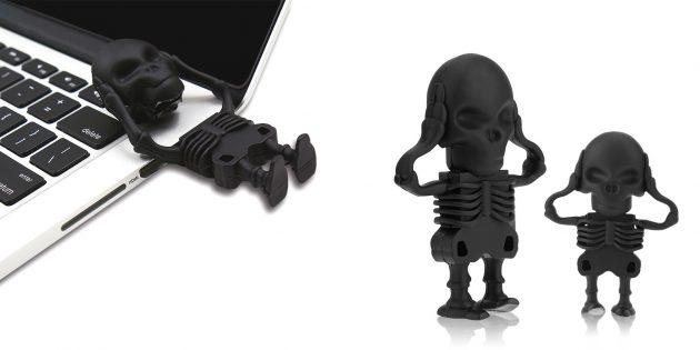 Необычные флешки: флешка-скелет