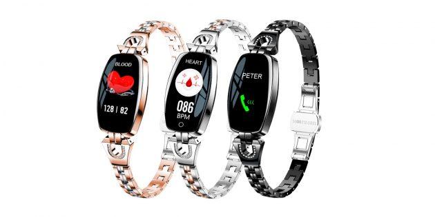 Смарт-часы с тонким металлическим браслетом