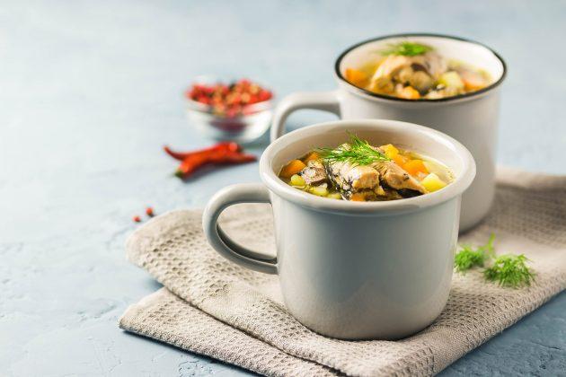 Рыбный суп на скорую руку