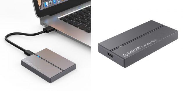 Распродажа AliExpress: портативные SSD‑накопители Orico