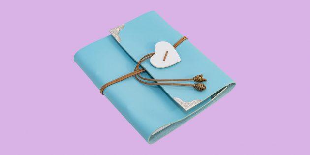 Романтические подарки на свидание: блокнот