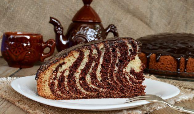 Пирог «Зебра» на молоке