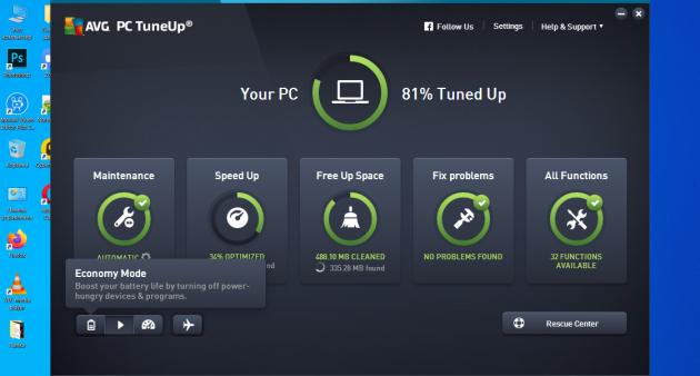 Программы для оптимизации Windows 10: AVG TuneUp
