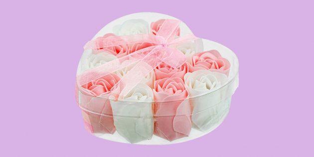 Что подарить на 14февраля: мыльные розы