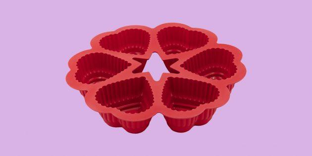 Что подарить на 14февраля: форма для выпечки