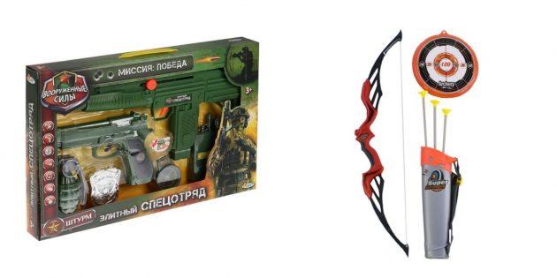 Подарки брату на 23 Февраля: игрушечное оружие