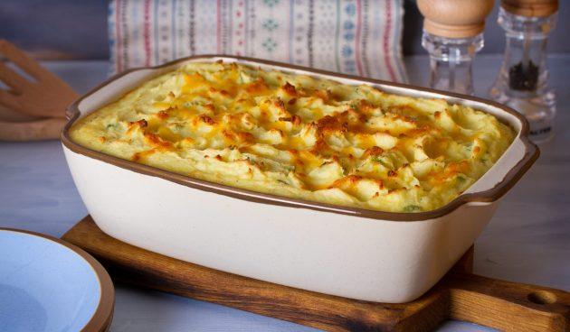 Картофельное пюре, запечённое в духовке