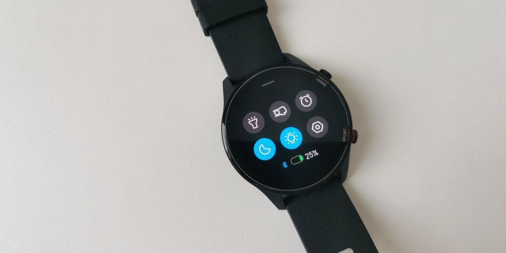 Xiaomi Mi Watch: быстрые настройки