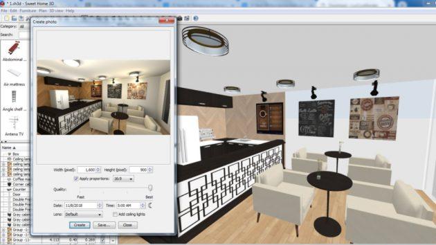 Программы для 3D-моделирования интерьера: Sweet Home 3D