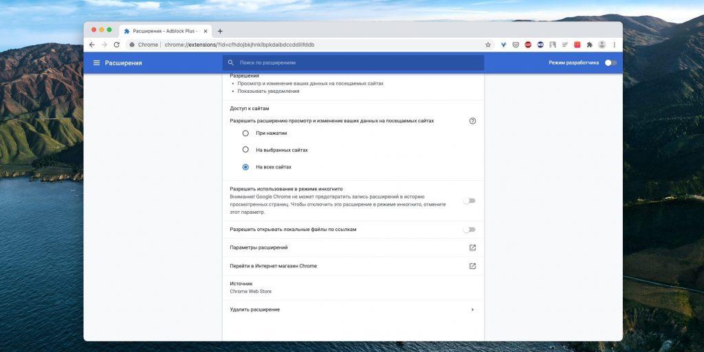 Как настроить расширение в Google Chrome: Настройте «Параметры расширений»