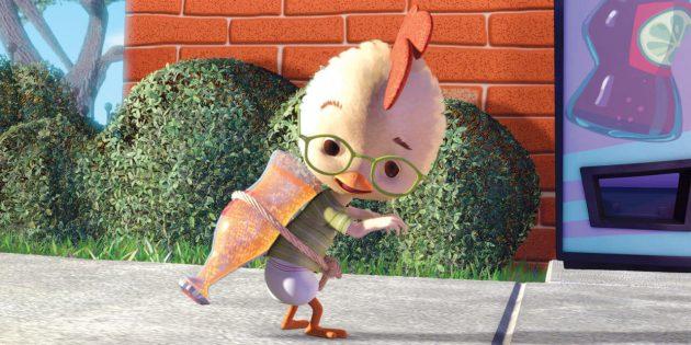 Кадр из мультфильма про инопланетян «Цыплёнок Цыпа»