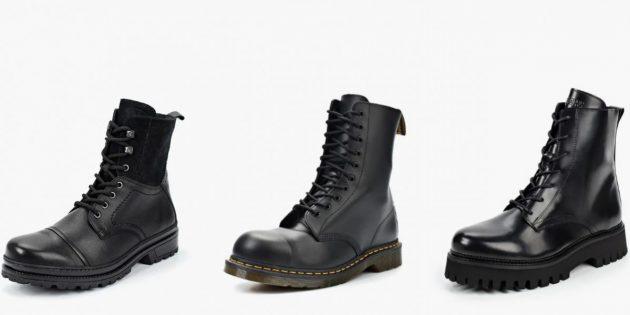 Новый милитари-стиль варкор: тяжёлые грубые ботинки
