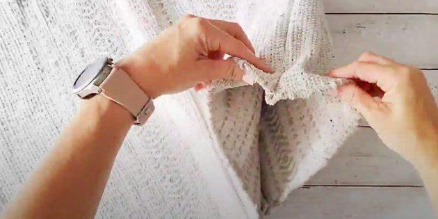 Пуфик своими руками: сделайте фальшивый шов