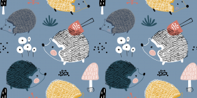 19 способов нарисовать ёжика пастелью, красками и не только