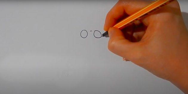 Как нарисовать белку: нарисуйте глаза