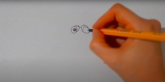 Как нарисовать белку: добавьте один зрачок