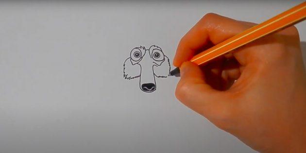 Как нарисовать белку: нарисуйте щёки