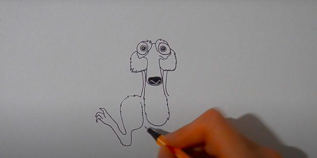 Как нарисовать белку: изобразите ногу