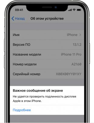 IPhone предупредлит о неоригинальном модуле камеры