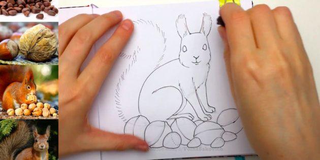 Обведите рисунок линером