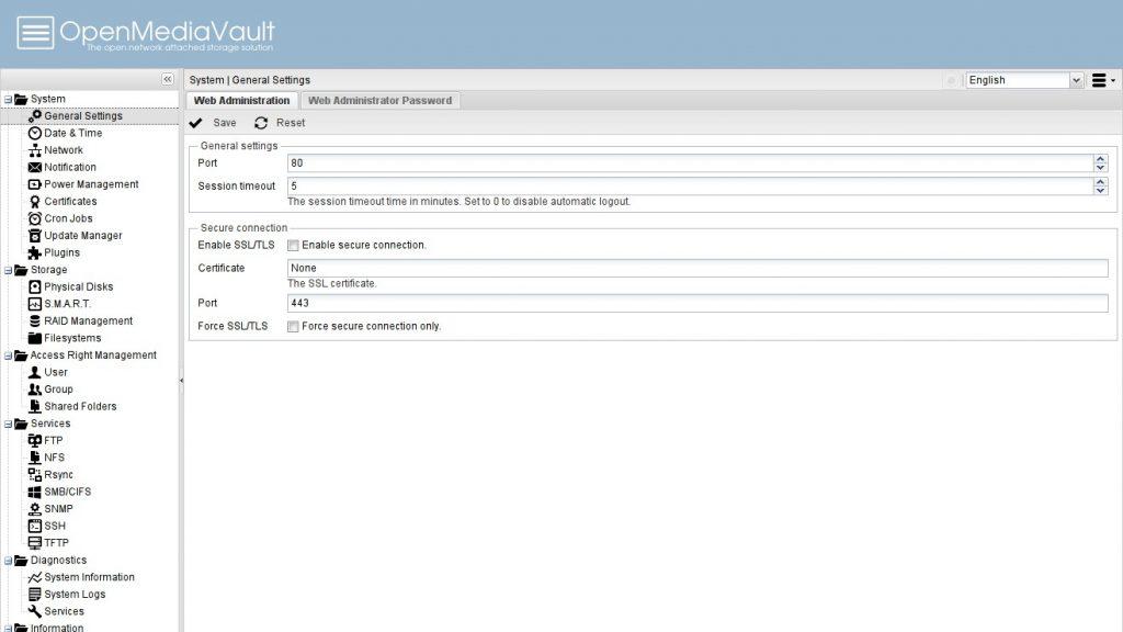 Дистрибутив Linux: openmediavault