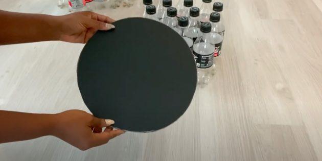 Пуфик своими руками: вырежьте круг