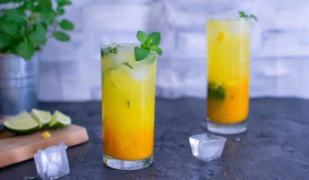 Безалкогольный мохито с манго