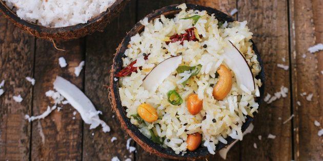 Как есть кокос: приготовьте кокосовый рис