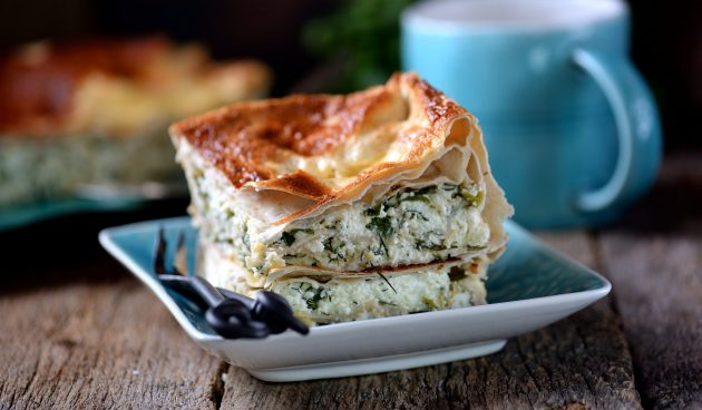 ПП-пирог из лаваша с сыром и творогом
