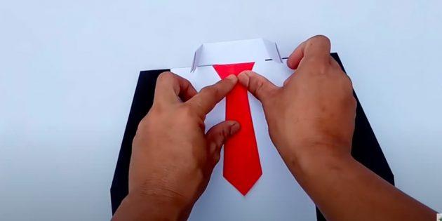 Поделки на 23 Февраля в школу: приклейте галстук