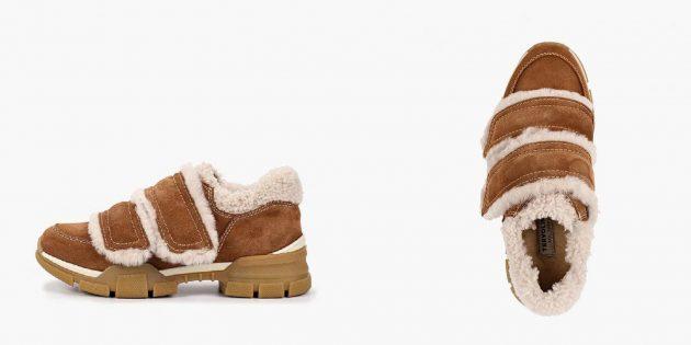 Зимние кроссовки с удобными застёжками